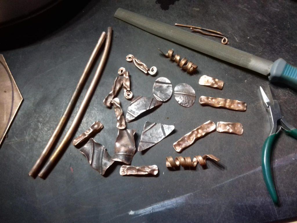 Making Rustic Copper Earrings