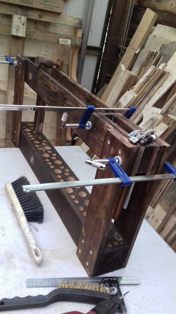 Hammer Stand under construction