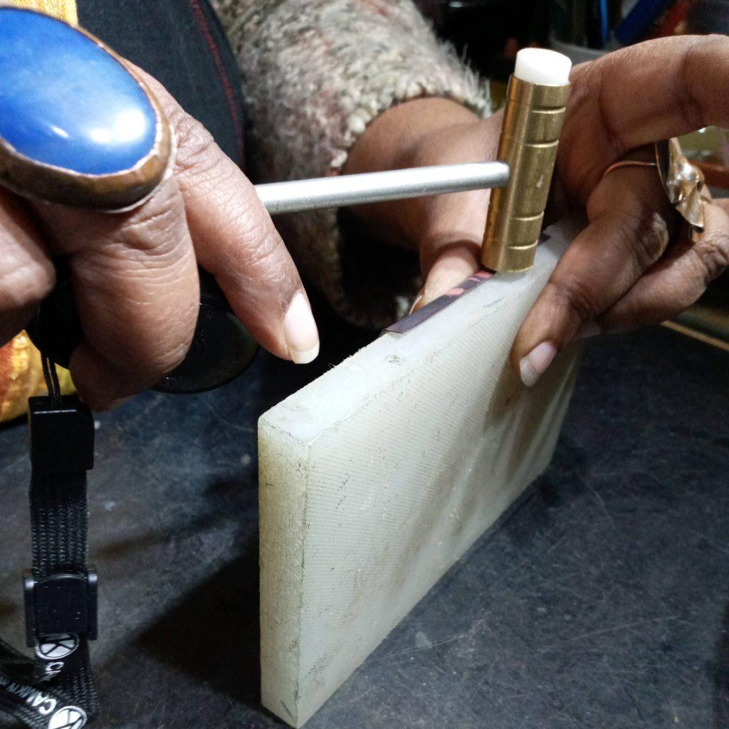 Making Fold Formed Copper Earrings